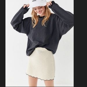 Urban Outfitters Scalloped Mini Skirt